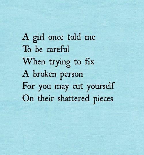 broken person